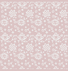 Seamless pattern background with abstract flower vector