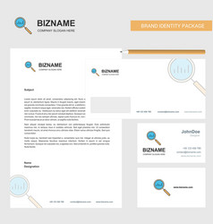 search business letterhead envelope and visiting vector image