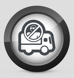 Security transport icon vector