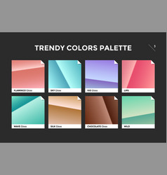 set of colorful trendy gradient template vector image