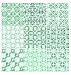 set of nine seamless pattern vector image