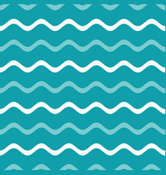 simple blue seamless wavy line pattern vector image