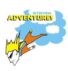 Skydiving adventures vector