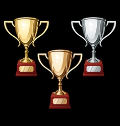 sports cups vector image vector image