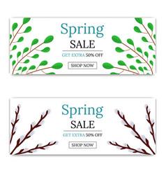 spring sale discount flyer or brochure vector image