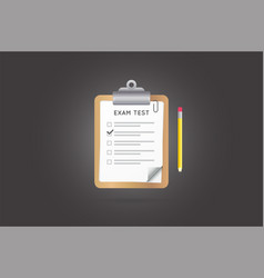 test or exam icon can be used as logo vector image