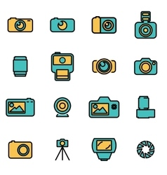 Trendy flat line icon pack for designers vector