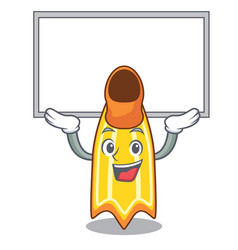 Up board swim fin character cartoon vector