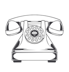 Vintage Phone with Buttons Dial Ring vector image