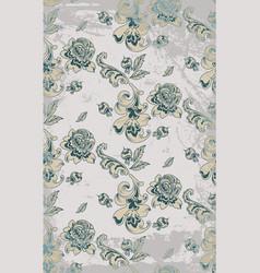 vintage retro roses damask pattern luxury vector image