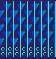 Wallpaper with elements of stripes and figures vector