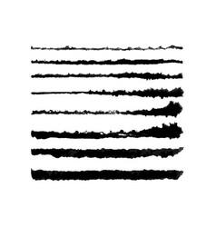 Watercolor tough brushes set vector