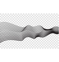 wave lines optical abstract art background vector image