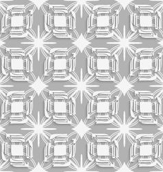 White split leaves on gray seamless vector