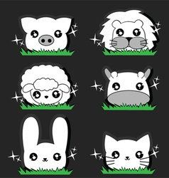 Wink little Animal set vector image