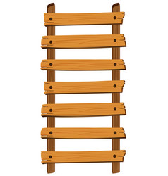 wooden ladder on white background vector image