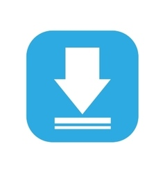 arrow download button isolated icon design vector image