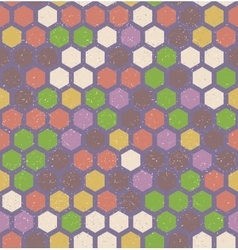 hexagon retro seamless pattern vector image vector image