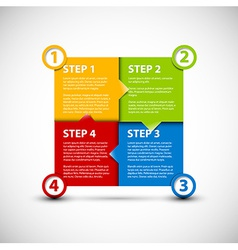 One two three four - paper steps vector image