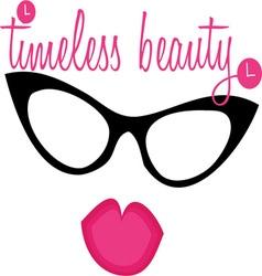 Timeless Beauty Lips Eyewear vector image vector image