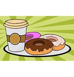 Cartoon donuts vector image