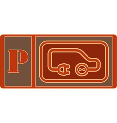 electrical vehicle parking sign vector image vector image