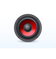loud speaker with red diffuser isolated on white vector image