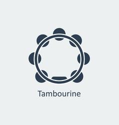 tambourine icon silhouette icon vector image