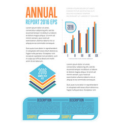 annual report template with diagram vector image