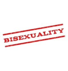 Bisexuality Watermark Stamp vector image vector image