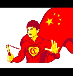 China superman vector image vector image