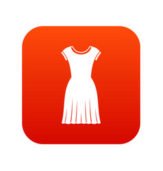 woman dress icon digital red vector image vector image