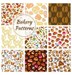 Bakery and pastry seamless pattern background vector image