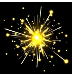 Glowing party sparkler vector image vector image