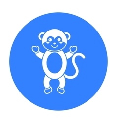 Monkey black icon for web and mobile vector image vector image