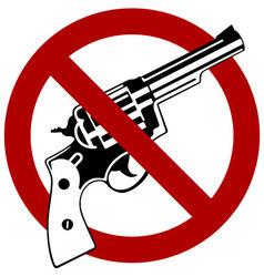 No Guns Allowed vector image