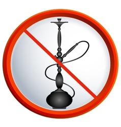 No smoking shisha vector image vector image