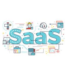 saas word vector image