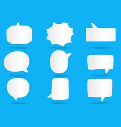 001 white paper communication bubbles for speech vector