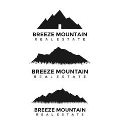 3 set mountains real estate logo vector image