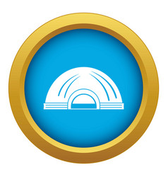 Aboriginal dwelling icon blue isolated vector