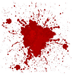 Abstract blood splatter isolated vector