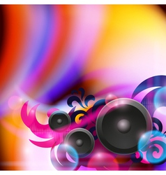 Abstract music background with speakers vector image