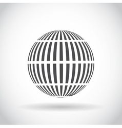 Abstract swirl sphere globe symbol vector image
