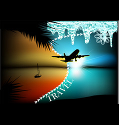 Abstract travel concept vector