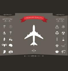 airplane icon symbol vector image