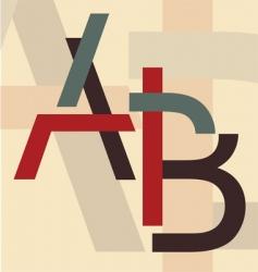 alphabet a b vector image