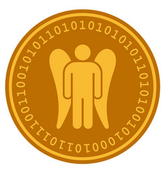 Angel digital coin vector