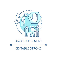 Avoid judgment concept icon vector