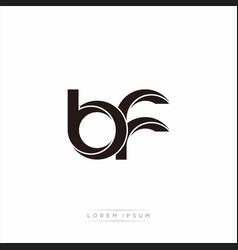 Bf initial letter split lowercase modern monogram vector
